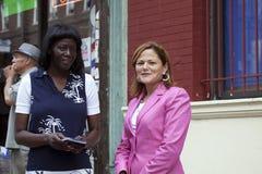 Congresista Mellissa Cerano en el esmero de la calle de Yomo Toro Fotos de archivo libres de regalías