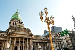 Congreso de Ла Nacion Аргентина, в Буэносе-Айрес Стоковые Изображения