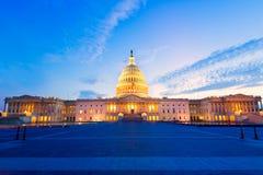 Congreso de los E.E.U.U. de la puesta del sol del Washington DC del edificio del capitolio fotografía de archivo libre de regalías