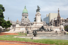 Congreso Nacional布宜诺斯艾利斯阿根廷 库存照片