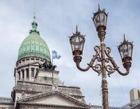Congreso Nacional Buenos Aires la Argentina Imagen de archivo libre de regalías