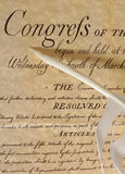 Congress. United States Declaration of Independence Royalty Free Stock Images