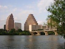 Congress Avenue Bridge. In downtown Austin, Texas stock photo