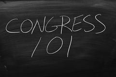Congress 101 On A Blackboard Royalty Free Stock Photography