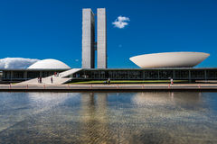 Congress in Brasilia Capital of Brazil Royalty Free Stock Photography