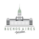 Congress in Buenos Aires, Argentina, vector illustra Stock Photo