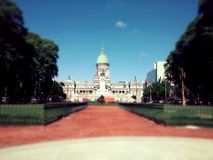 Congress of buenos aires. General view of the congress of buenos aires, argentina Stock Photography