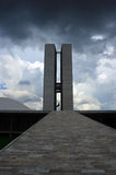 Congress building in Brasilia. Federal District - Brazil royalty free stock image