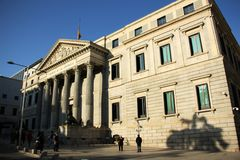 Congress of Deputies in Madrid, Spain Stock Photo