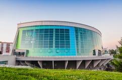 Congress hall in Ufa city. Venue of BRICS summit 08-10 july 2015 Royalty Free Stock Photos