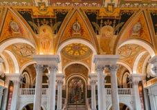 Congress Library Ceiling Washington Royalty Free Stock Photo