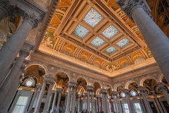 Congress Library Ceiling Washington Stock Photos