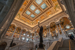 Congress Library Ceiling Washington Royalty Free Stock Images