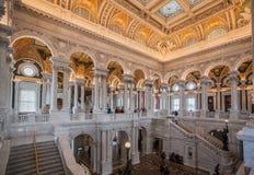 Congress Library Ceiling Washington Stock Image