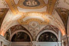 Congress Library Ceiling Washington Royalty Free Stock Photos
