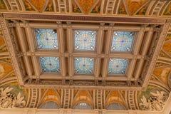 Congress Library Ceiling Washington Royalty Free Stock Photography