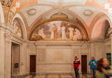 Congress Library Ceiling Washington Stock Photo