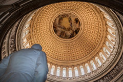 Congress Library Rotunda Washington Royalty Free Stock Photos