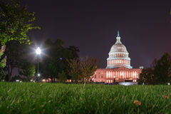 Congress at Night Royalty Free Stock Images