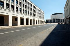 Congress Palace of EUR View Royalty Free Stock Images