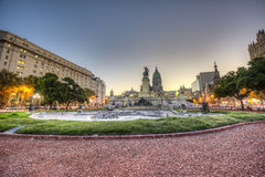 Congress Square in Buenos Aires, Argentina Royalty Free Stock Photos