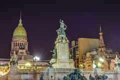 Congress Square in Buenos Aires, Argentina Stock Image