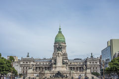 Congress Square in Buenos Aires, Argentina Royalty Free Stock Photography
