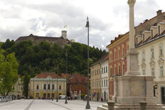 Congress Square Ljubljana Stock Photo