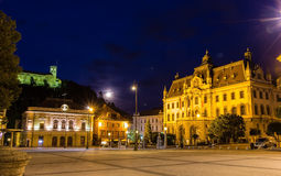 Congress square in Ljubljana, Slovenia Royalty Free Stock Photography