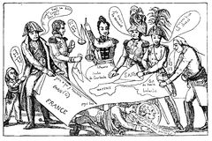 Congress of Vienna 1815, caricature Stock Image