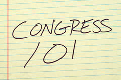 Congress 101 On A Yellow Legal Pad Stock Photo