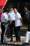 Congressman Arrested at Immigration Rally Stock Photo