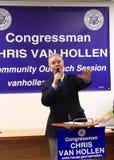 Congressman Chris Van Hollen. Democratic Congressman Chris Van Hollen  from Maryland District 8 in a community outreach session, United States Royalty Free Stock Photos