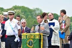 Congressman David Cecilline. Making a speech on a memorial day event Stock Image