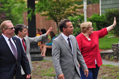 Congressman David Cecilline. Walking in a memorial day parade: Bristol, RI Stock Images