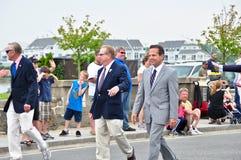 Congressman David Cecilline. Walking in a memorial day parade: Bristol, RI Stock Photography