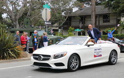 Congressman Jimmy Panetta in 4th of July parade, Monterey, CA. Congressman Jimmy Panetta rides in a convertible at the Independence Day parade, Monterey, CA.  7 Stock Photography