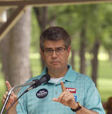 Congressman Lee Terry speaks at Tea Party Rally Stock Photo