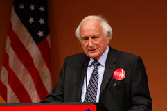 Congressman Sander Levin. ANN ARBOR, MI - OCTOBER 24: Congressman Sander Levin speaks in support of Congressman John Dingell of Michigan at a get out the vote Royalty Free Stock Photos