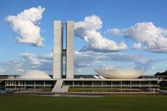 Congresso di Brasilia fotografie stock libere da diritti
