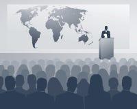 Congresso internazionale illustrazione di stock