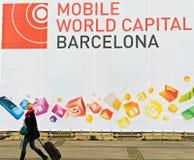 Congresso mobile del mondo di GSMA Immagine Stock