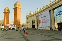 Congresso mobile del mondo di GSMA Fotografia Stock Libera da Diritti