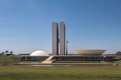 Congresso nazionale brasiliano - Brasilia, Distrito federale, Brasile fotografie stock libere da diritti