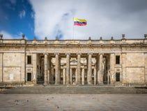 Congresso nazionale colombiano e Campidoglio, Bogota - Colombia fotografia stock libera da diritti