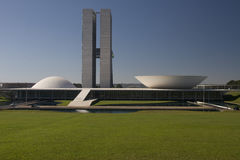 Congresso nazionale del Brasile a Brasilia Immagine Stock