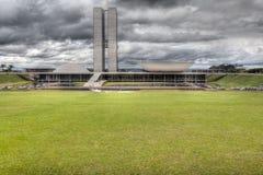 CONGRESSO NAZIONALE DEL BRASILE A BRASILIA fotografia stock libera da diritti