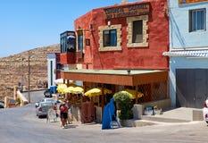 Congreve Channel Bar & Restaurant near Blue Grotto  sea cave on Stock Photo