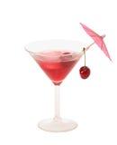 Conhaque da cereja doce em um vidro de Martini Fotos de Stock Royalty Free