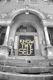 Conheça o thyself Fotografia de Stock